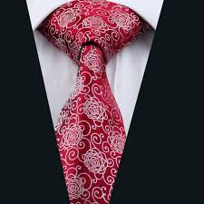 Wholesale Designer Ties Hot Sale Red Men Ties Drop Shipping Mens Tie Set Wholesale Fashion Novelty Red Flower Woven Cheap Ties For Wedding D 1087 Gold Tie Gold Bow Tie From