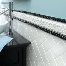 elegant border tiles for bathroom walls wall tile trim for wood trim for ceramic tile floors