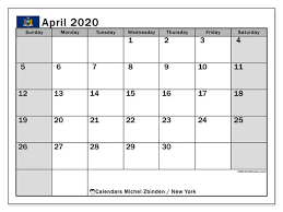 printable april 2020 new york