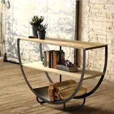 half circle shelf semi circle console with two wooden shelveetal bottom circle wall shelf