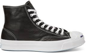 converse jack purcell signature leather high top sneakers