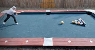 life size pool table you wont believe this life size backyard pool bowling table bowls