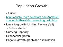 population growth j curve