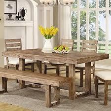 amazon dining room tables. coaster 105541 elmwood rustic 77.75 x 39 30-inch u base dining table amazon room tables e
