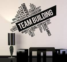 vinyl wall decal team building words cloud office art decor stickers unique gift ig4650  on wall art decoration vinyl decal sticker with vinyl wall decal team building words cloud office art decor stickers