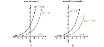 two graphs where graph a is an example of vertical stretch and graph b is an