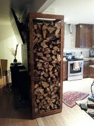 Image of: indoor firewood rack design
