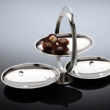 alessi am37 anna gong folding cake stand by alessandro mendini