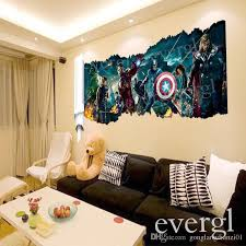 3d the avengers removable vinyl wall sticker decals kids nursery room decor sticker girls wall stickers graffiti wall stickers from gonglangdianzi01