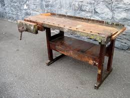 Antique Kitchen Work Tables Antique Carpenters Woodworking Bench Kitchen Island Wood