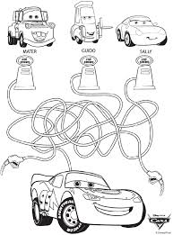 Disney Cars Maze Coloring Page Coloring2019 ディズニーの