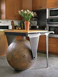 industrial kitchen furniture. Huge Wrecking Ball Dominating Mundane Items Through A Small Kitchen Isle. 23 Clever DIY Industrial Furniture