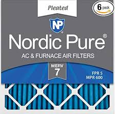 Fpr Rating Chart Nordic Pure 20x20x1 Merv 7 Pleated Ac Furnace Air Filters 20x20x1m7 6 6 Pack