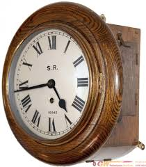southern railway 8 inch dial oak cased fusee clock