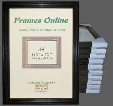ten a4 black wood photo frames