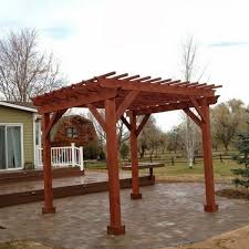 set apart from the home this stand alone pergola creates a room outdoors