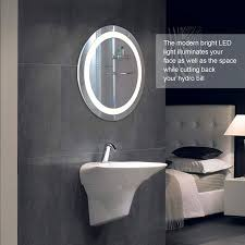 Bathroom mirror lighting Vertical Round Led Wall Mounted Bathroom Mirror With Dimmable Touch Dimmer Makeup Vanity Mirror With Lights Cosmetic Mirror Light Walmartcom Joanne Russo Homes Round Led Wall Mounted Bathroom Mirror With Dimmable Touch Dimmer