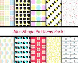 Shape Patterns Classy Abstract Mix Shape Pattern