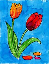 Art For Kids Art Projects For Kids Watercolor Tulips Apfk Watercolor