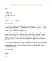 Cover Letter Referral Sample Cover Letter When Referred Cover Letter Referred By Friend