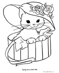 Children who color generally acquire. Cat Coloring Pages Free And Printable