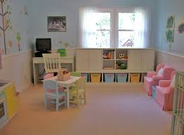 Decorations:Colorful Kid Playroom Design Ideas With Red Color Domination  Cozy Outstanding Playroom Organization With