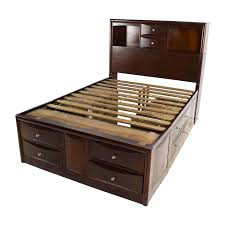 ... shop Roundhill Furniture Emily Wooden Full Size Storage Bed Roundhill  Furniture Bed Frames ...