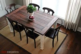 Diy dining room table plans