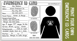 Id Cards Templates Free Downloads Child Id Card Template Free Template Business