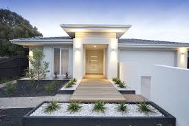 modern white front door with four glass inserts