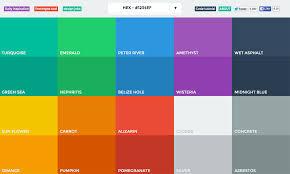 Flat Web Design Color Palette Colors Page Html Color Codes Great Website Color Palettes