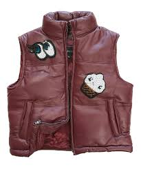 love this product burdy sequin eye cupcake leather vest toddler girls