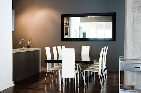 Good Contemporary Mirrors For Dining Room Layout With Modern Table And Chairs  Sets Also Using