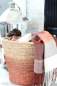 i m obsessed with this diy metallic rope basket so perfect to d throw