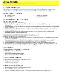 sample resume writing a professional cv with career objective feat core competencies complete with professional how to write a resume free download