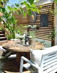 inexpensive patio ideas diy. Small Patio Solutions: How To Build A Privacy Trellis Inexpensive Ideas Diy D