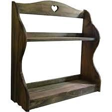 antique brown heart wooden e rack a storage shelf rev wall wooden e rack shelf wall