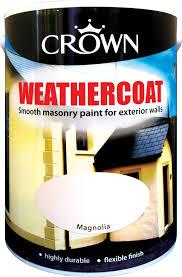 Crown Weathercoat Colours Paint 10 Litre Colour Masonry