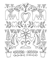folk art coloring pages. Exellent Coloring Back To Post Mexican Art Coloring Pages With Folk R
