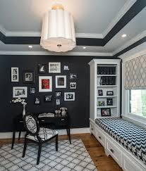 office paint color schemes. Black And White Office Area With Window Seating Paint Color Schemes I