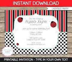 Ladybug Invitations Template Free Free Printable Ladybug Invitations A Free Printable Ladybug