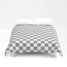 grey checkerboard pattern duvet cover