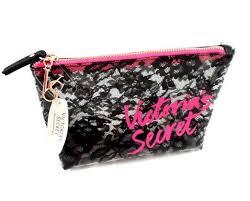victoria s secret lace plastic jelly vinyl makeup bag travel train case m ebay