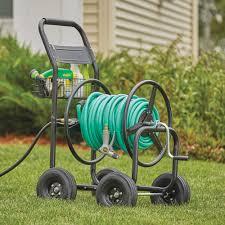 garden hose reel cart holds 300ft x 5 8in hose