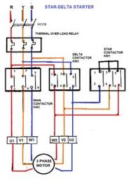 stop start wiring diagram for air compressor overload star delta starter