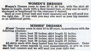 Misses Vs Women S Size Chart Difference Between Ladies And Misses Sizes Witness2fashion