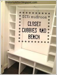 Mudroom Cubbies Plans Thats My Letter Diy Mudroom Closet Cubbies Bench