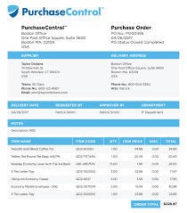 local purchasing order purchase order vs invoice purchasecontrol