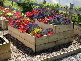split level raised flower garden bed pertaining to beds plans 0