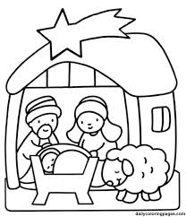 Christmas Coloring Sheets For Kindergarten Nativity Scene Coloring